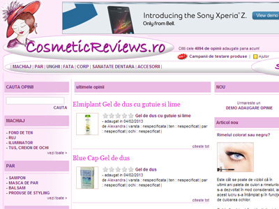 Cosmetic Reviews